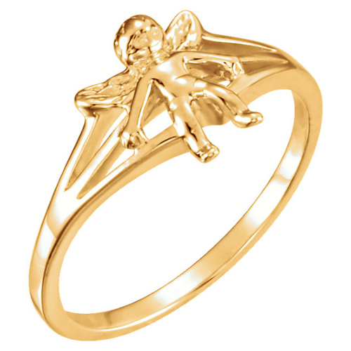 14kt Yellow Gold Angel Chastity Ring
