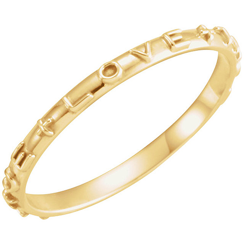 14k Yellow Gold Men's True Love Chastity Ring