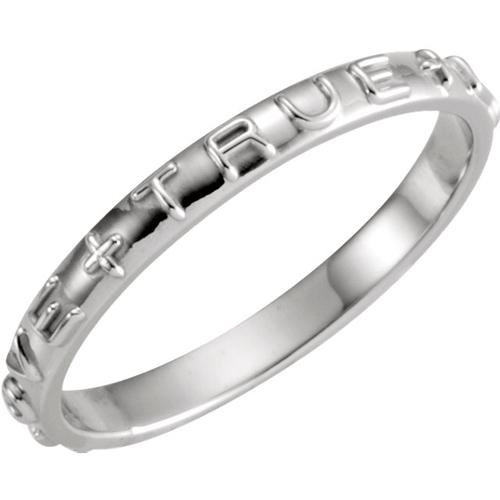 Men's True Love Chastity Ring - 14kt White Gold