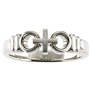 14kt White Gold Joined by Christ Ring