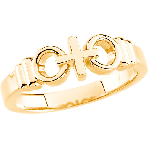 14kt Yellow Gold Joined by Christ Ring