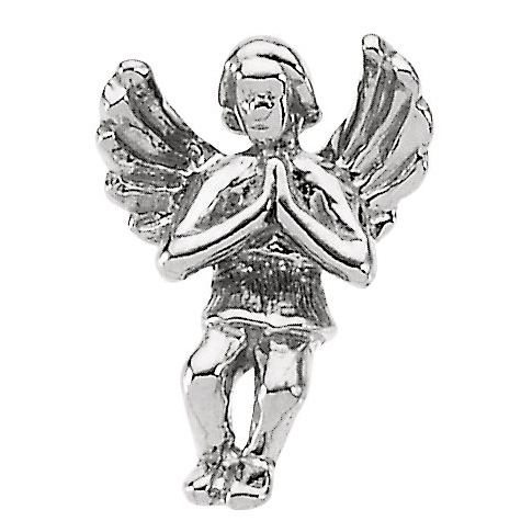 Sterling Silver Praying Angel Lapel Pin