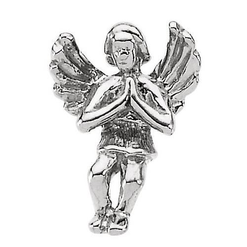 14KW Gold Praying Angel Lapel Pin 12x9mm