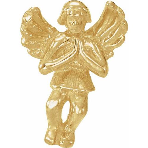 14kt Yellow Gold Praying Angel Lapel Pin