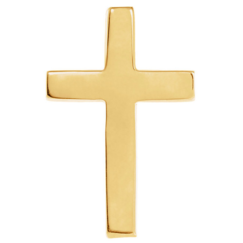 14kt Yellow Gold Cross Lapel Pin 11x8mm