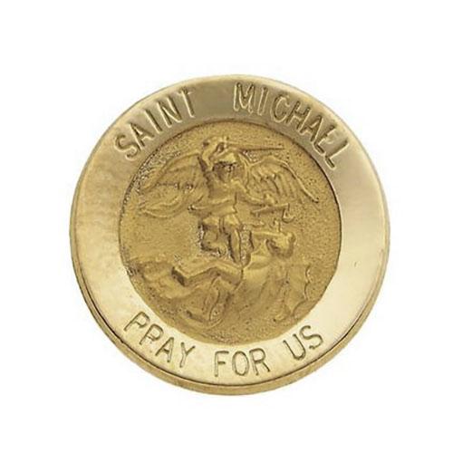 14k Yellow Gold St. Michael Lapel Pin