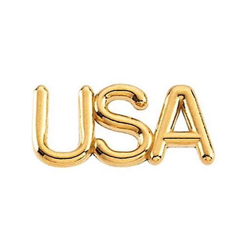 14kt Yellow Gold USA Lapel Pin