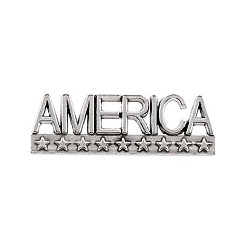 14kt White Gold America Lapel Pin