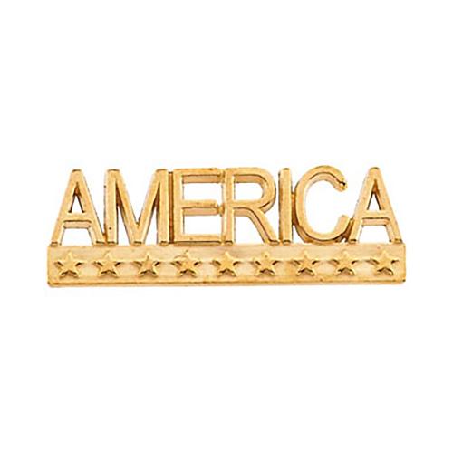 14k Gold America Lapel Pin 7.5x22.5mm