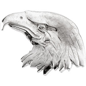 14kt White Gold Eagle's Head Lapel Pin