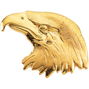 14k Yellow Gold Eagle Lapel Pin 11.5x26mm