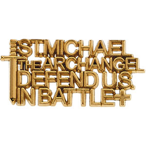 14kt Yellow Gold St. Michael the Archangel Lapel Pin