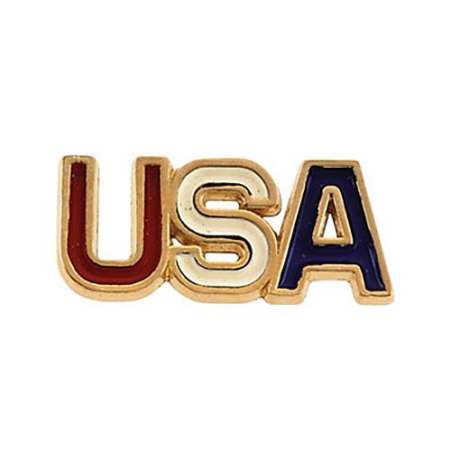 14k Gold Enameled USA Lapel Pin