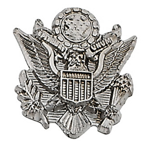 14k White Gold U.S. Army Lapel Pin