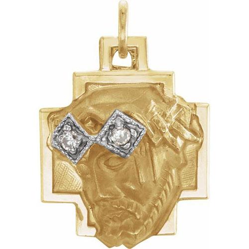 Face of Jesus with Diamonds 12mm