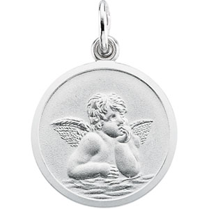 14kt White Gold 18mm Raphael Angel Pendant