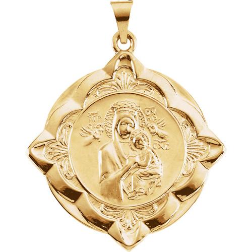 14k Lady of Perpetual Help Medal 31mm