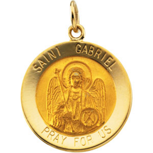 14kt Yellow Gold 18mm St. Gabriel Medal