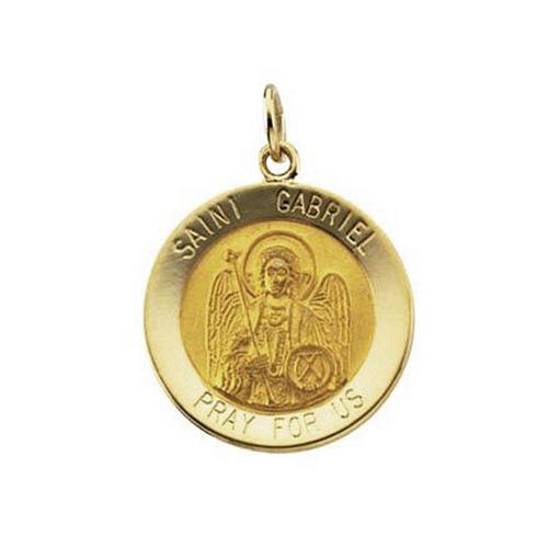 14kt Yellow Gold 18mm St. Gabriel Medal