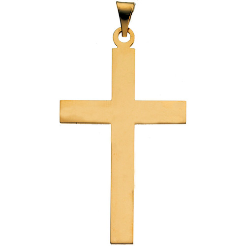 14kt Yellow Gold Smooth Cross 22x14mm