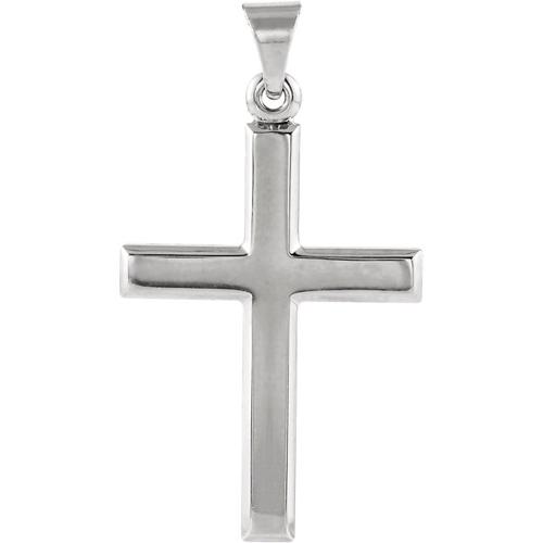 14KW Beveled Cross 26x19mm