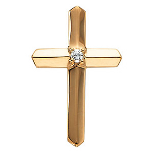 .03 CT Diamond Cross 21.5x14mm