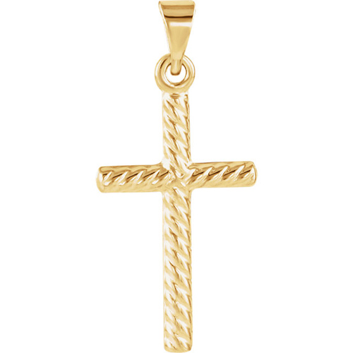 14KY Gold Cross 17.5x11mm