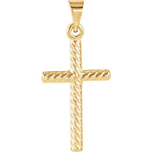 14KY Gold Cross 17.5x11mm