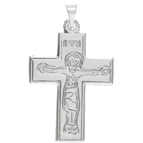 Sterling Silver 1in Crucifix Pendant - Clearance