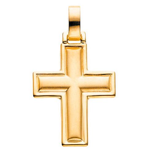 Cross 30x24mm - 14kt Yellow Gold