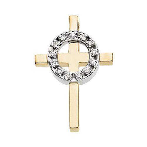 1/8 CT TW Diamond Cross 38.5x28.5mm