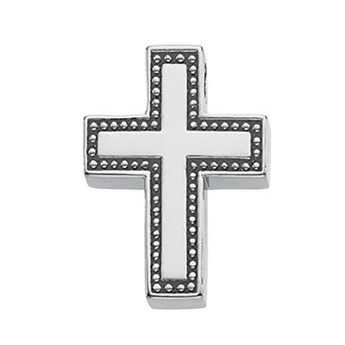 Cross 20.5x16mm - 14k White Gold