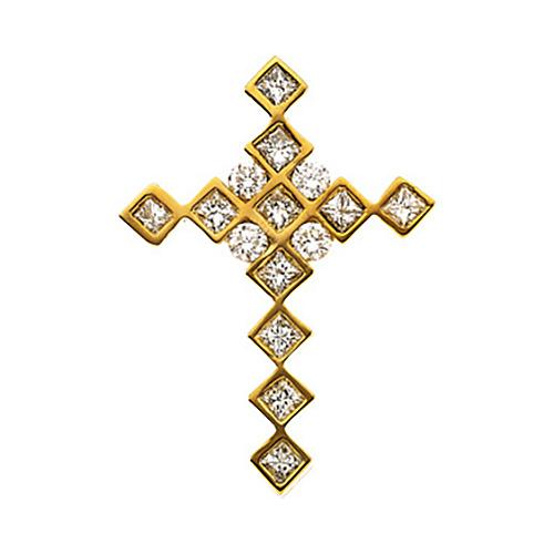 4/5 CT TW Diamond Cross 28x20mm