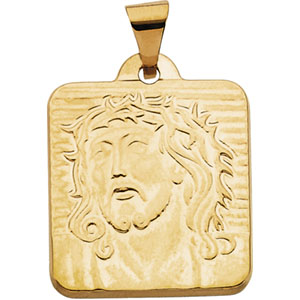 Face of Jesus 18.5x17mm - 14kt Yellow Gold