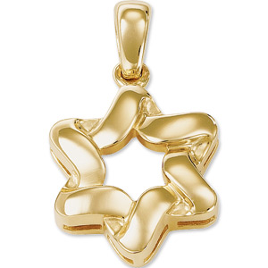 14kt Yellow Gold 7/8in Wrapped Star of David Pendant