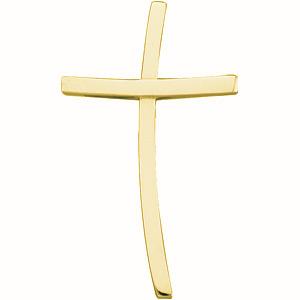 14KY Gold Cross 30.75x18.5mm
