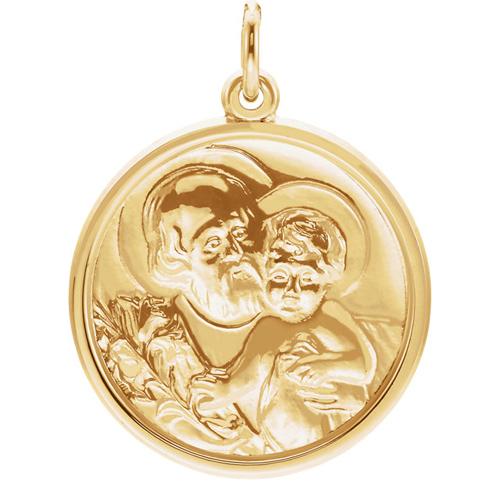 St. Joseph Medal 21mm - 14k Yellow Gold