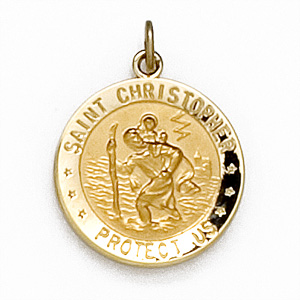 U.S. Air Force St. Christopher 5/8in Medal - 14k Yellow Gold