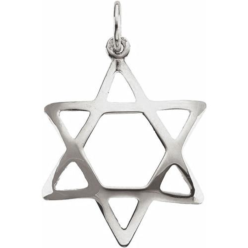 Domed Star of David 3/4in - Sterling Silver