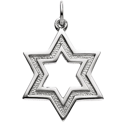 Star of David 3/4in - Sterling Silver