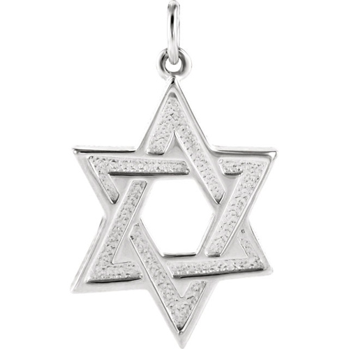 Star of David 1in - Sterling Silver