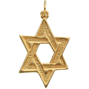 Star of David 1in - 14k Yellow Gold