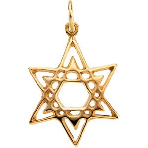 Star of David 3/4in - 14k Yellow Gold
