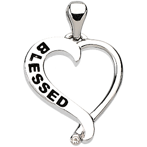Blessed Heart Necklace 18in
