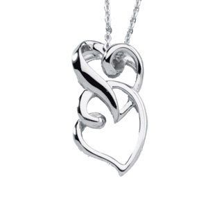 Friendship Heart Pendant 25.5x14.5mm