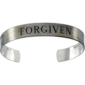 Sterling Silver Antiqued Forgiven Cuff Bracelet