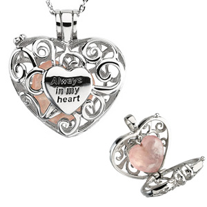 Sterling Silver Always in My Heart Locket and 18in Chain