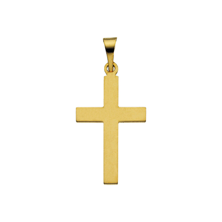 14kt Yellow Gold Smooth Cross 18x12mm