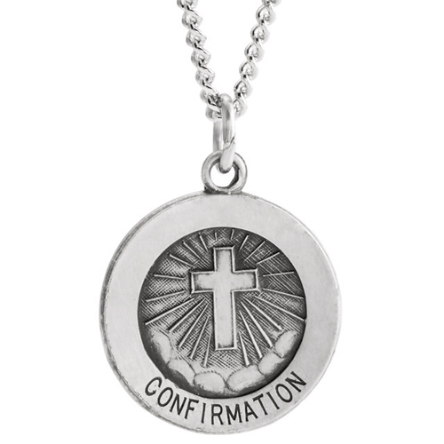 Sterling Silver Confirmation Medal 15mm
