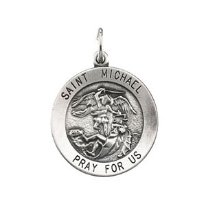 Sterling Silver 18mm St. Michael Medal